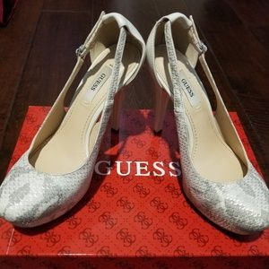 "Guess ""snake"" skin heels"